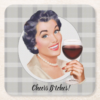 Cheers B*tches! Square Paper Coaster