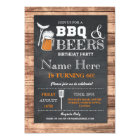 Cheers & Beers BBQ Birthday Party ANY AGE Invite