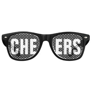 'CHEERS' Black and White Party Retro Sunglasses