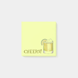 Cheers! Celebration Margarita Cocktail Lime Green Post-it Notes
