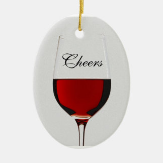 Cheers Ceramic Oval Ornament