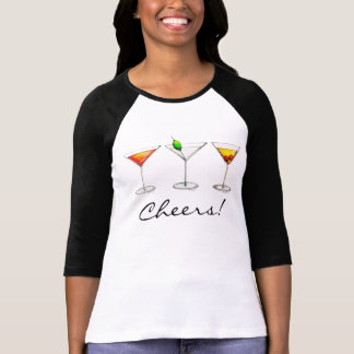 Cheers! Cocktail Mixed Drinks Martini Cosmo Tee