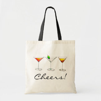 Cheers! Cocktails Martini Cosmo Manhattan Bar Tote