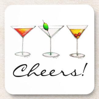 Cheers! Cocktails Martini Cosmo Manhattan Coaster