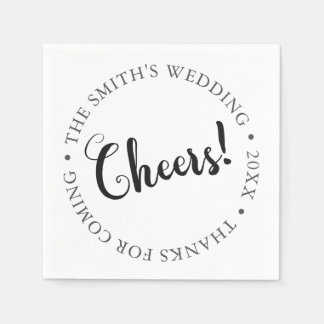 CHEERS! Customizable Party Paper Napkin