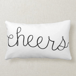 Cheers Cute Quote Throw Pillow Home Decor