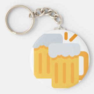 Cheers Emoji Basic Round Button Keychain