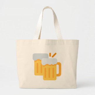 Cheers Emoji Large Tote Bag