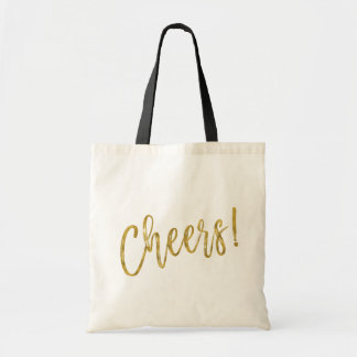 Cheers Faux Gold Foil Party Bag