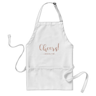 Cheers | Faux Rose Gold Typography with your Name Standard Apron