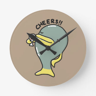 Cheers Fish Acrylic Wall Clock