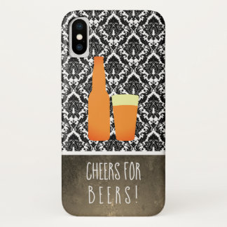 Cheers for Beers / Damask iPhone X Case
