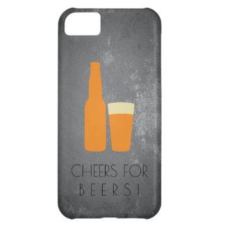 Cheers for Beers / Slate Grunge iPhone 5C Cover