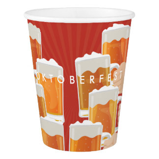 Cheers for Oktoberfest! Beers for Everyone! Paper Cup