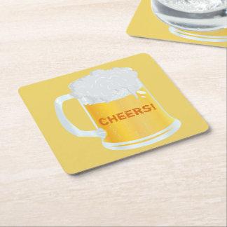 Cheers Frothy Pint Stein of Beer Bar Coasters