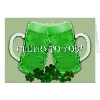 Cheers Green Beer Irish Birthday Message Card