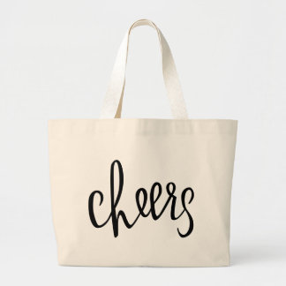 Cheers Hand Lettered Design Canvas Bag
