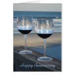 """Cheers - Happy Anniversary"" - Greeting Card"