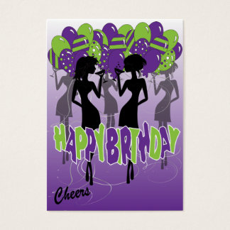 Cheers, Happy Birthday Party Girls Business Card