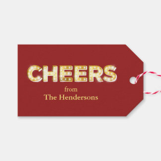 Cheers Holiday Gift Tag Pack Of Gift Tags