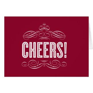 CHEERS!   HOLIDAY GREETING CARD