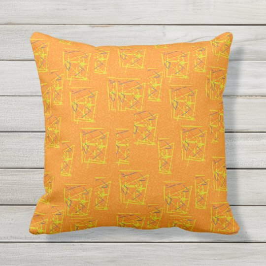Cheers, in Tangerine - Square Throw Pillow