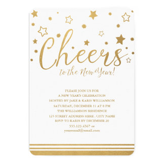 Cheers New Year's Eve Party Invitation
