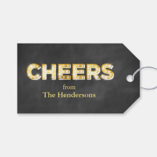 Cheers on Chalkboard Gift Tags Pack Of Gift Tags