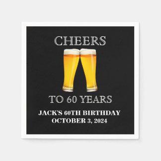 Cheers Surprise 60th Birthday White Paper Napkin