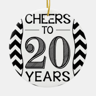 Cheers to 20 Years Ceramic Ornament