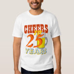 Cheers To 25 Years Beer Birthday Party T Shirt
