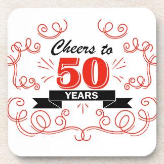 Cheers to 50 years beverage coaster
