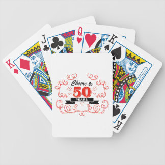 Cheers to 50 years bicycle playing cards