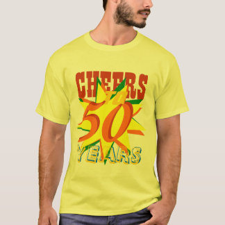 Cheers To 50 Years Birthday T-Shirt
