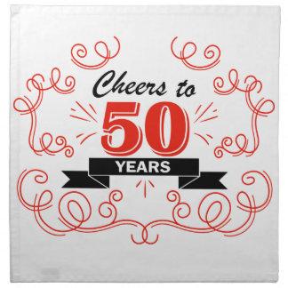 Cheers to 50 years napkin
