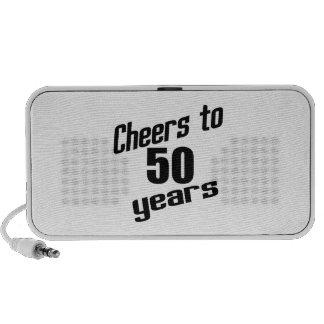 Cheers to 50 years notebook speakers