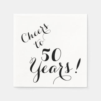 Cheers to 50 Years Paper Napkins