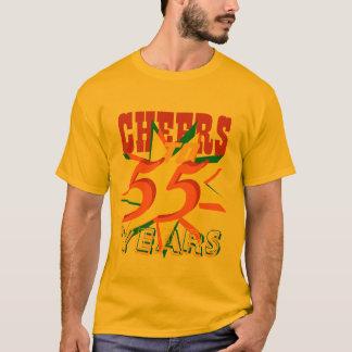 Cheers To 55 Years Birthday T-Shirt