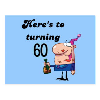 Cheers to 60 Birthday Tshirts and Gifts Postcard