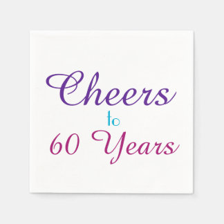 Cheers to 60 Years Birthday Party Paper Napkin