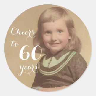 Cheers to 60 Years! Round Sticker