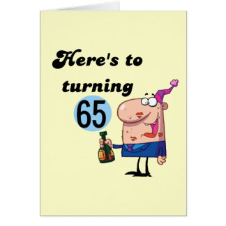 Cheers to 65 Birthday Tshirts and Gifts Greeting Card