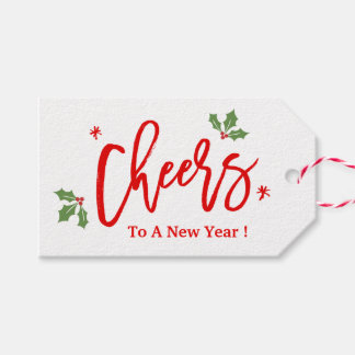 Cheers To A New Year Modern Simple Holiday Wishes Pack Of Gift Tags