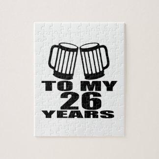 Cheers To My 26 Years Birthday Jigsaw Puzzle