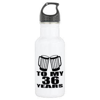 Cheers To My 36 Years Birthday 532 Ml Water Bottle