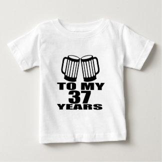 Cheers To My 37 Years Birthday Baby T-Shirt