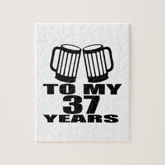 Cheers To My 37 Years Birthday Jigsaw Puzzle