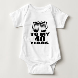 Cheers To My 40 Years Birthday Designs Baby Bodysuit