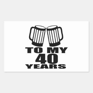 Cheers To My 40 Years Birthday Designs Sticker