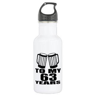 Cheers To My 63 Years Birthday 532 Ml Water Bottle